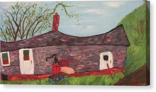 Home In Feeding Hills Part 2 Canvas Print by Suzanne  Marie Leclair