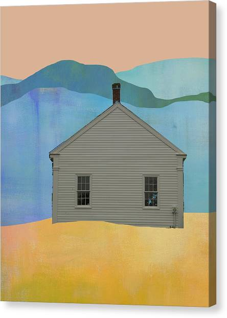 Pioneers Canvas Print - Old School House In New England by Jacquie Gouveia