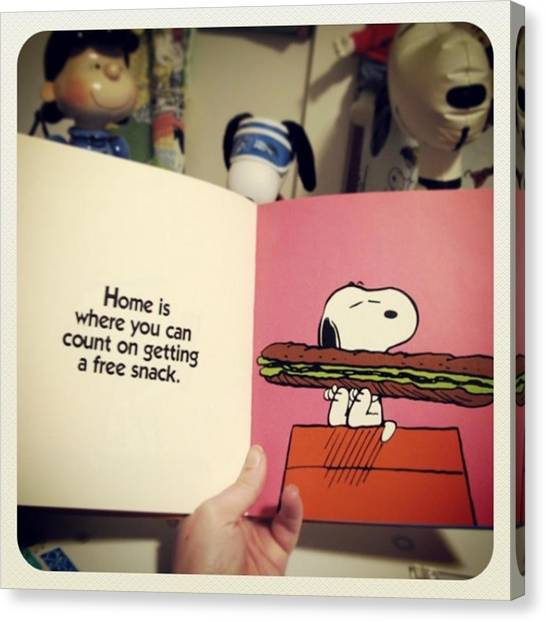 Sandwich Canvas Print - Home Is Where You Can Count On Getting by Caren Pilgrim