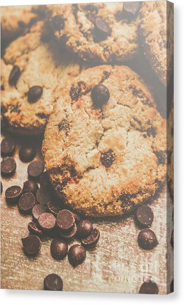 Biscuits Canvas Print - Home Made Biscuit Batch by Jorgo Photography - Wall Art Gallery