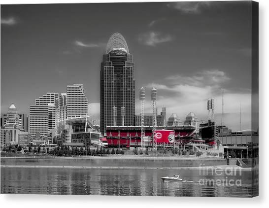 Cincinnati Reds Canvas Print - Home Of The Cincinnati Reds by Mel Steinhauer