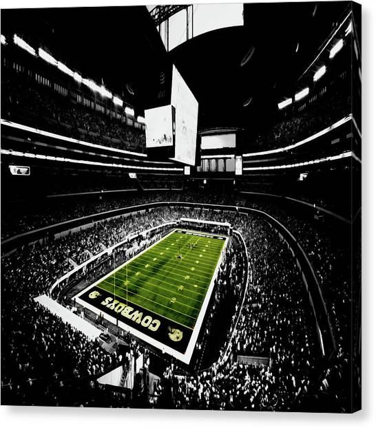 Dallas Cowboys Cheerleaders Canvas Print - Home Of The Dallas Cowboys by Brian Reaves