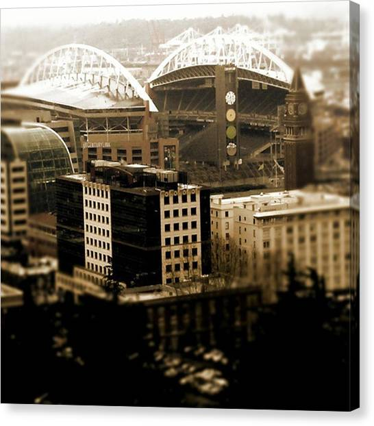 Seattle Seahawks Canvas Print - Home Of The Hawks by Christian Richards