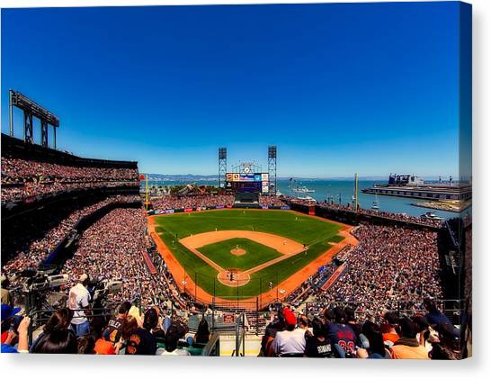 San Francisco Giants Canvas Print - Home Of The San Francisco Giants by L O C