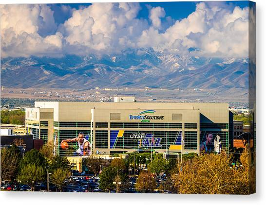 Utah Jazz Canvas Print - Home Of The Utah Jazz by TL  Mair