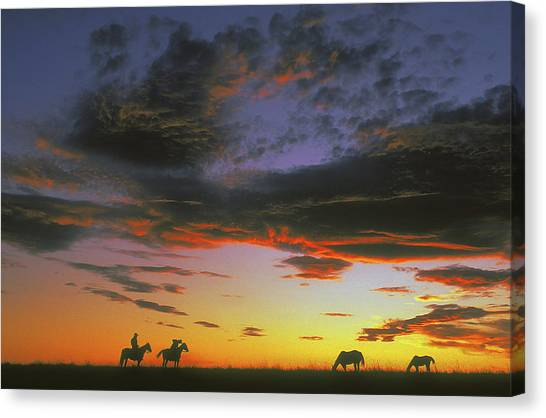 Home On The Range Canvas Print by Carl Purcell