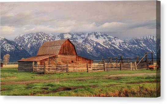 Teton National Forest Canvas Print - Home On The Range by Lori Deiter
