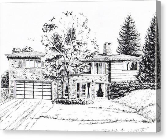 Home Portrait Canvas Print