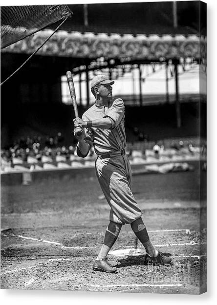 Babe Ruth Canvas Print - Home Run Babe Ruth by Jon Neidert