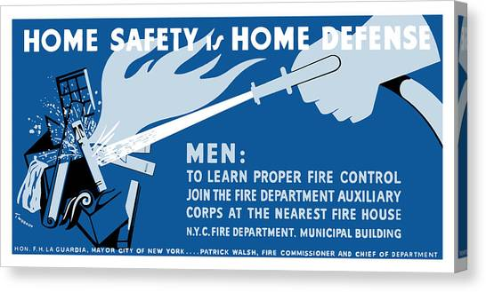 Fire Canvas Print - Home Safety Is Home Defense by War Is Hell Store