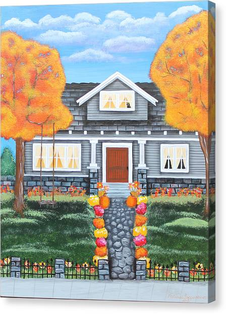 Home Sweet Home - Comes Autumn Canvas Print