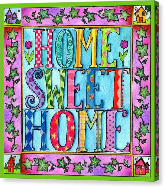 Home Sweet Home Canvas Print by Pamela  Corwin