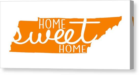 University Of Memphis Canvas Print - Home Sweet Home Tennessee by Heather Applegate