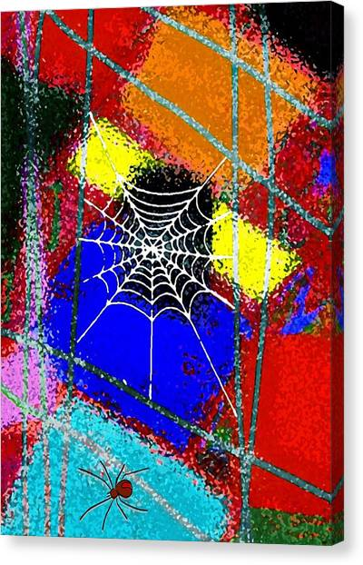 Home Sweet Spider Home Canvas Print by Mimo Krouzian