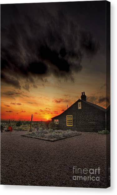 House Canvas Print - Home To Derek Jarman by Lee-Anne Rafferty-Evans
