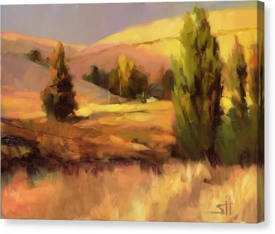 Hay Bales Canvas Print - Homeland 1 by Steve Henderson