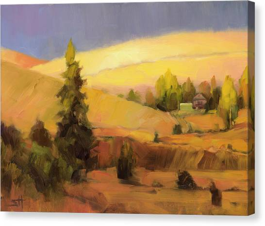 Farming Canvas Print - Homeland 2 by Steve Henderson