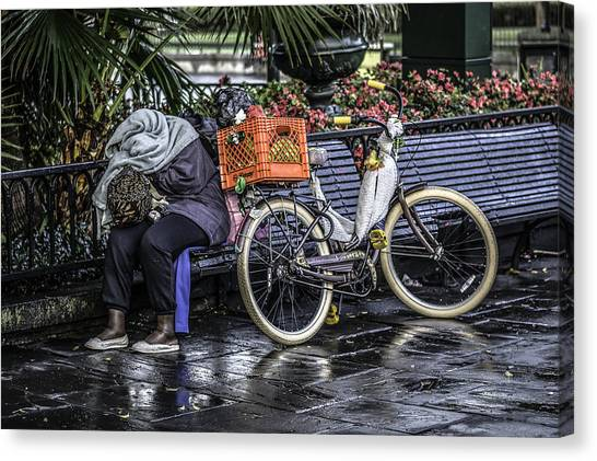 Homeless In New Orleans, Louisiana Canvas Print