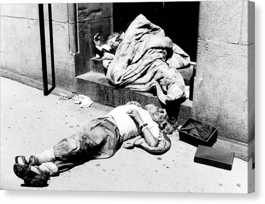 Homelessness Canvas Print by Martin Rochefort