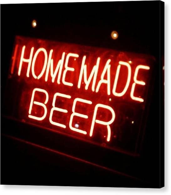 Beer Canvas Print - Homemade Beer! by Troy Thomas