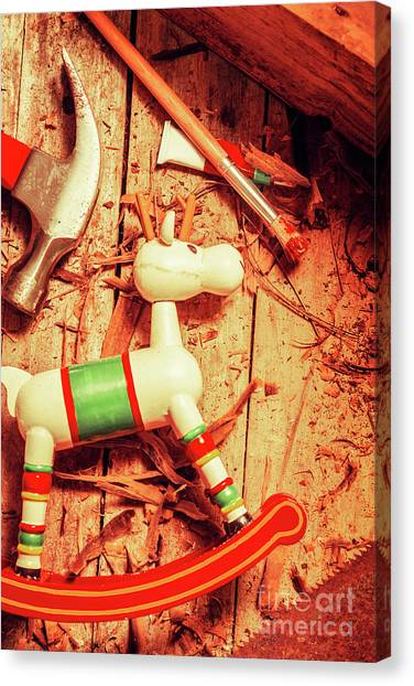 Presents Canvas Print - Homemade Christmas Toy by Jorgo Photography - Wall Art Gallery