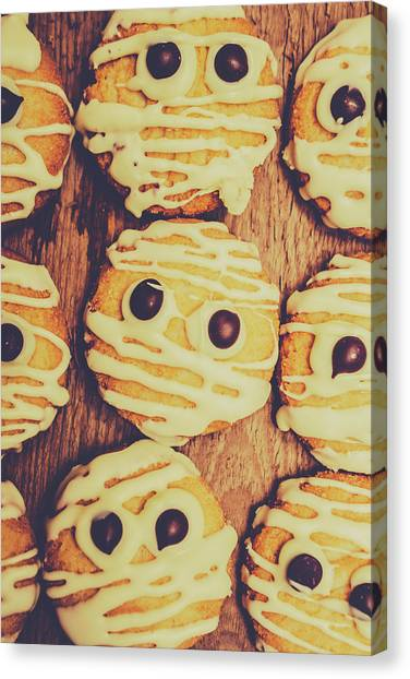 Biscuits Canvas Print - Homemade Mummy Cookies by Jorgo Photography - Wall Art Gallery