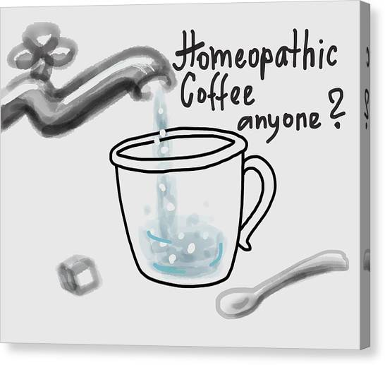Medicine Canvas Print - Homeopathic Coffee by Ivana Westin