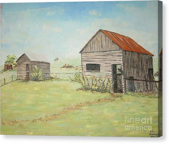 Homeplace - The Smokehouse And Woodhouse Canvas Print