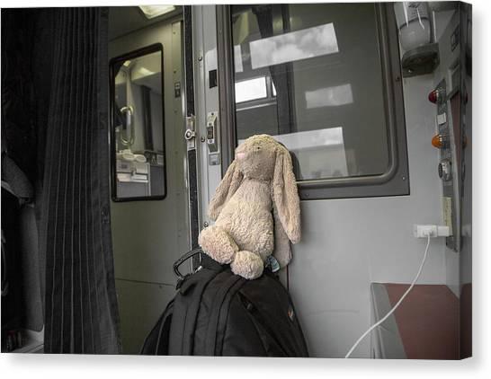 Amtrak Canvas Print - Homesick by Betsy Knapp