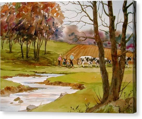 Homeward Bound Canvas Print by Faye Ziegler