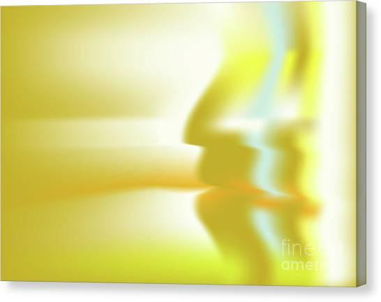 Canvas Print featuring the digital art Hominium by Ron Labryzz
