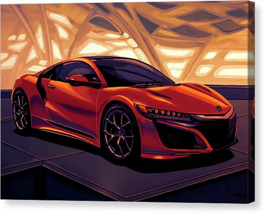 Race Cars Canvas Print - Honda Acura Nsx 2016 Mixed Media by Paul Meijering