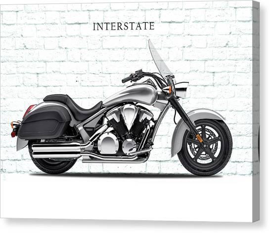 Interstates Canvas Print - Honda Interstate by Mark Rogan