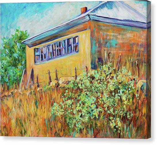 Hondo Valley School House Canvas Print