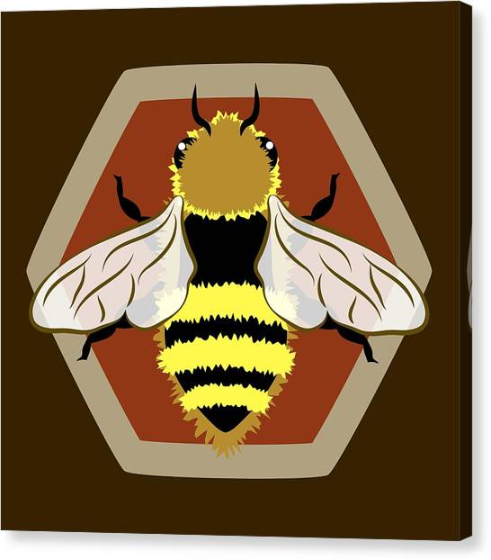 Canvas Print featuring the digital art Honey Bee Graphic by MM Anderson