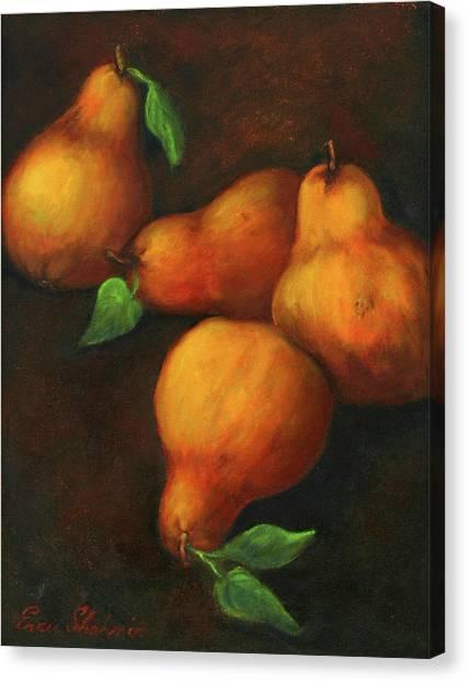 Honey Pears Canvas Print