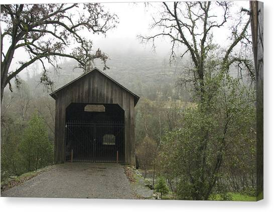 Chico Canvas Print - Honey Run Three-level Covered Bridge by James Forte