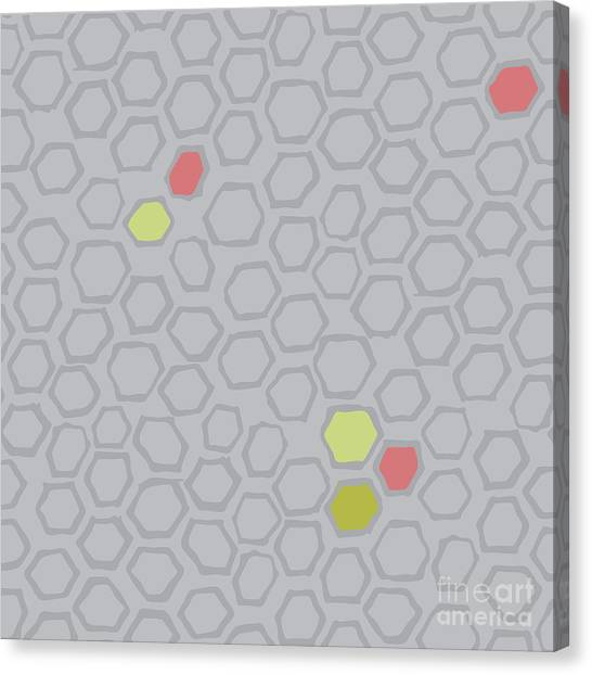 Repeat Canvas Print - Honeycomb by Marni Stuart