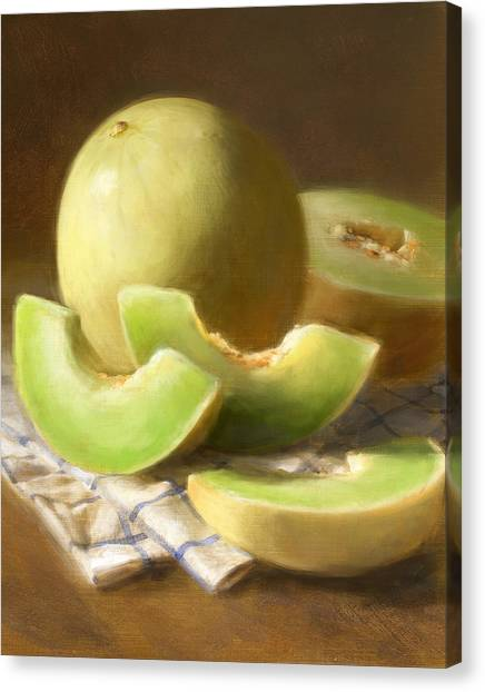 Honeydew Melons Canvas Print