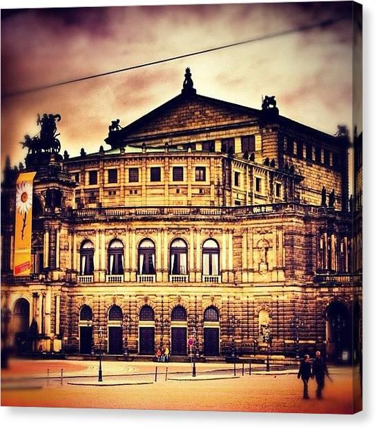 Germany Canvas Print - #honeymoon #latergram #dresden #germany by Stephen Whitaker