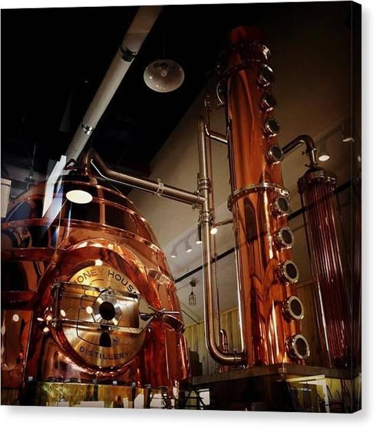 Distillery Canvas Print - #honeyville #honey #house #distillery by Ron Meiners