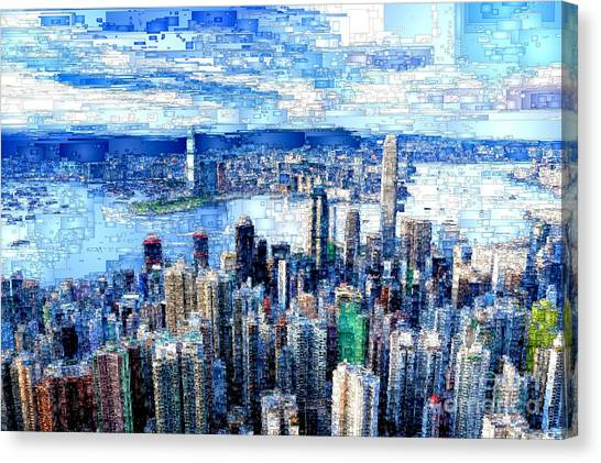 Hong Kong, China Canvas Print