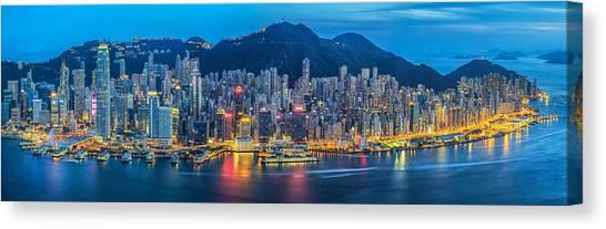 Hongkong Canvas Print - Hong Kong City  by Anek Suwannaphoom