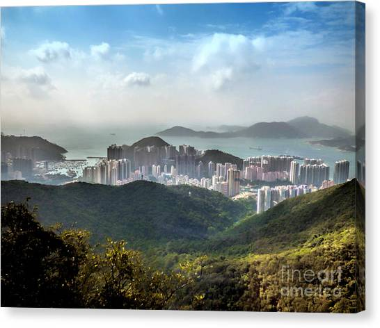 Hong Kong From Victoria Peak Canvas Print