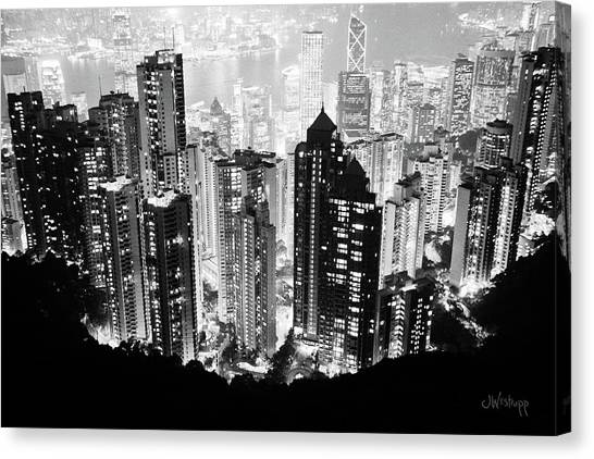 Hong Kong Nightscape Canvas Print