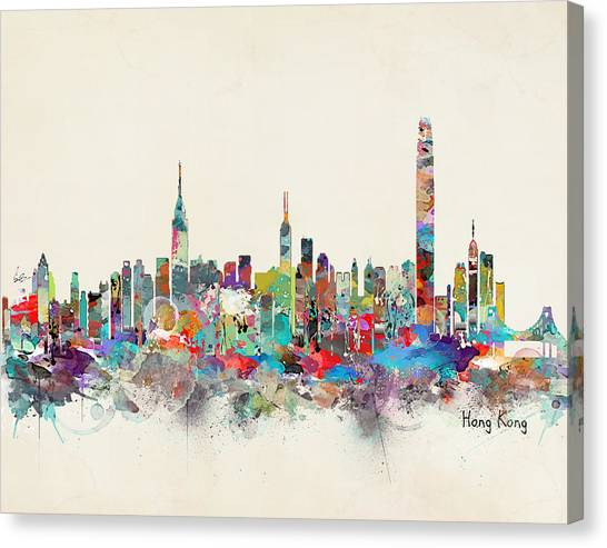 Hong Kong Canvas Print - Hong Kong Skyline by Bri Buckley