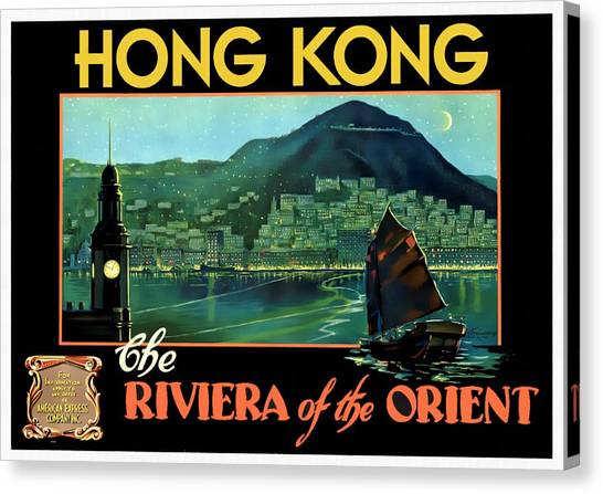 Hong Kong The Riviera Of The Orient - Restored Canvas Print