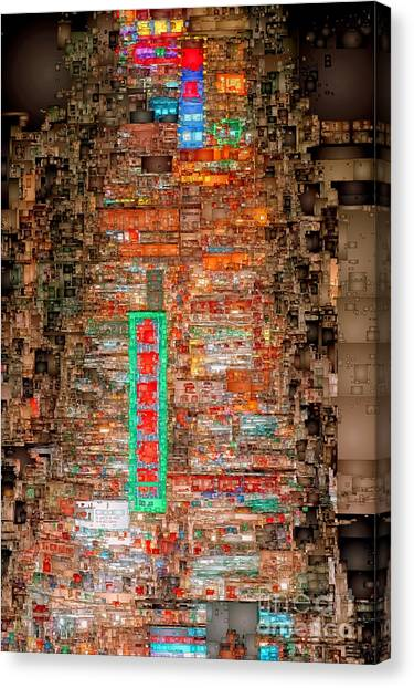 Hong Kong -yaumatei Canvas Print