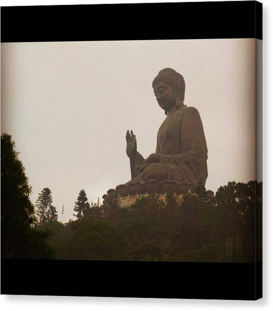 Landmark Canvas Print - Tian Tan Buddhah - Hong Kong by Jason Freedman