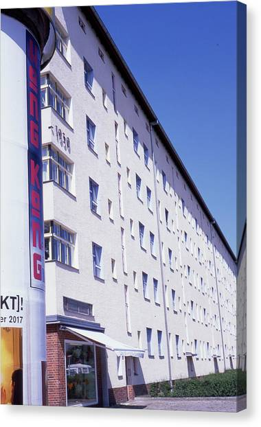 Honk Kong And Building In Berlin Canvas Print